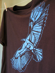 organic bamboo tee with original art