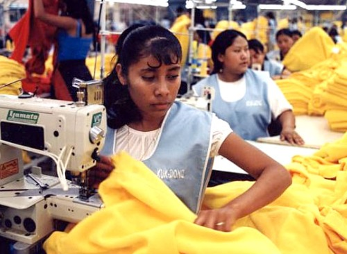 Sweatshop worker in Bangladesh, Photo courtesy new york times.