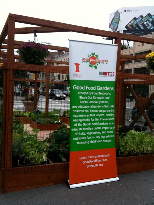 Food Network local food garden in Chelsea, Manhattan